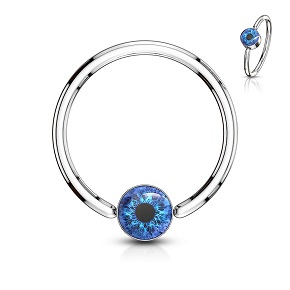 Blue Eye Surgical Steel Ball Closure Ring