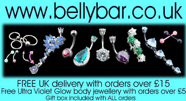 for designer belly bars & belly bars with silver designs visit bellybar.co.uk